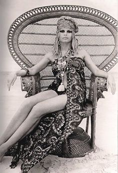 Julia Chaplin's Gypset Style book reminds us of our boho past. We had this chair at my house growing up, but Bridget Bardot, sadly, did not sit in ours w/her rad head scarf and wrap...