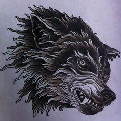 chest tattoo wolf - Buscar con Google