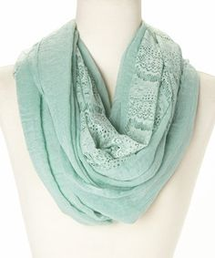 Look what I found on #zulily! Mint Lace Infinity Scarf by Three Bird Nest #zulilyfinds
