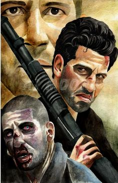 Series 1 Walking Dead Watercolors all works painted by artist AJ Moore