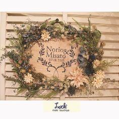 wedding welcome board  印刷でなく 手書きでもなく カッターとペンキで型抜きした ステンシル  #luck#ウェルカムボード#wedding#flower#ステンシル
