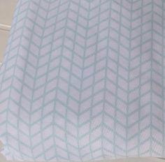 NEW-Twin-Sheet-Set-White-amp-Mint-Green-Chevron-13-034-Deep-Pocket-Fitted-Flat-Pillow