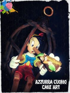 My sweet sweet Pinocchio....♥( click to view the full cake)