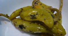 Zutaten : Frische grüne Peperoni Pflanzenöl & Olivenöl zu gleichen Teilen Sherryessig gehackter Knoblauch Salz Schwarzer P...