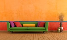 Assim como o marrom e azul marinho, laranja ajuda a casa a transmitir sensação de aconchego no inverno (Fotos: Thinkstock)