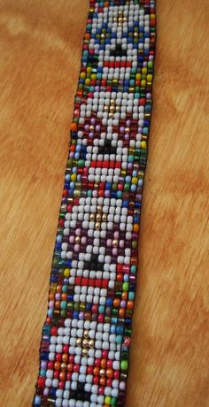 Day of The Dead Loom Beaded Bracelet by tee007 on Etsy