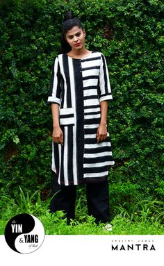 Coming soon to all our stores - The Yin and Yang of Ikat. A hypnotic collection of tunics in black and white ikat.