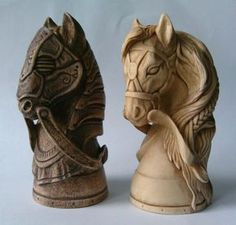 Chess Pieces, Game Pieces, Knight Chess, Art Through The Ages, Kings Game, 3d Prints, Wood Sculpture, Wood Art, Board Games