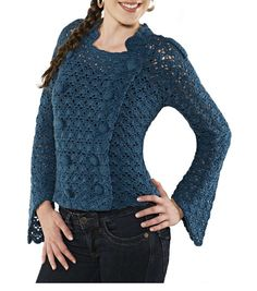 Crochet jacket PATTERN written tutorial in ENGLISH for every