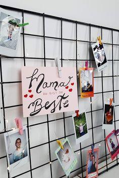 Foto Gitter zum Muttertag mit Instax Sofortbildern  #Muttertag #mom #motherday #fotogitter Inspiration, Frame, Home Decor, Pictures, Postcards, Diy Crafts, Homemade Home Decor, Biblical Inspiration