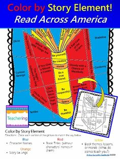 FREE Color by Story Element activity for Read Across America Week! Students read the clues in the picture, determine if the clue is a character, title, setting, or theme / lesson / moral and color the section to match the color key. When coloring is complete, teachers can see at a glance who understands titles, characters, settings, and themes / lessons / morals, and who needs more practice. Would make fun and meaningful morning work, independent work, or homework for  reading elements.