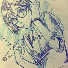 眼鏡槇嶋 メガマキシマつよそう #槇嶋 #rampage13maxima #oc #mangastyle #mangastyledrawing #doodle