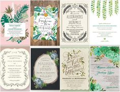 Amazing Botanical Wedding Invites