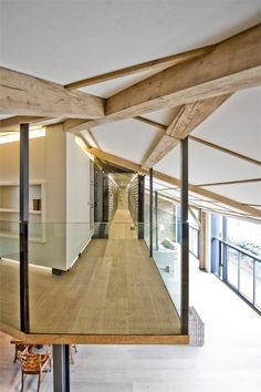Hallway At TheTex-Tonic House By Paul McAneary Architects Ltd