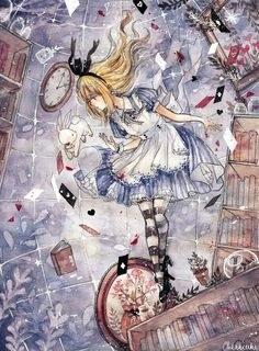 Down the rabbit hole art drawings sketches, love illustration Alice In Wonderland Artwork, Alice Rabbit, Alice Anime, Arte Punk, Princess Art, Love Illustration, Art Drawings Sketches, Dark Fantasy, Disney Art