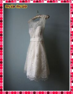 another short lace dress