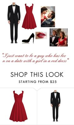 """me before you: the red dress"" by sammybvbkandp ❤ liked on Polyvore featuring Ralph Lauren Purple Label"