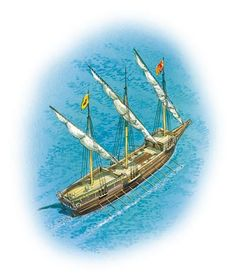A barque longue (an oared ship)