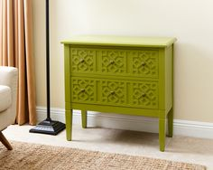 Lowest price on Abbyson Living Peter Lime Green Side Cabinet MD-145040-GRN. Shop today!