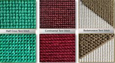 Basic Tent Needlepoint Stitches-Quick Reference Guide
