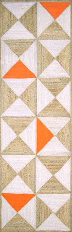 Surya MOL5001 Molino Neutral, Orange Runner Area Rug