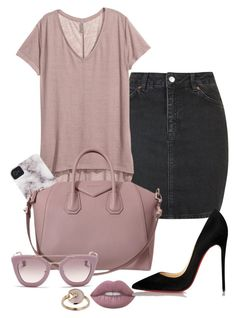wisteria by minkstyles on Polyvore featuring polyvore fashion style H&M Topshop Christian Louboutin Cartier Prada clothing