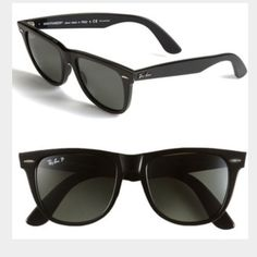 black polarized ray ban wayfarer perfect condition. comes with case. Ray-Ban Accessories Sunglasses