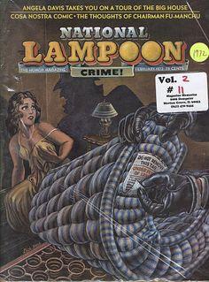 National Lampoon Magazine, American Humor, Magazin Covers, Angela Davis, National Lampoons, The Ok, Mad Magazine, Vintage Magazines, Comic Book Covers