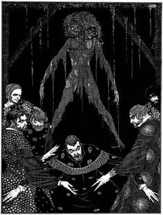 "Illustrations for Edgar Allan Poe's ""Tales of Mystery and Imagination"" by Harry Clarke."