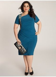 Plus Size Ciara Cinch Dress - Marigold at CurvaliciousClothes.com ...