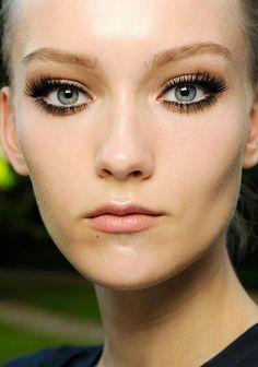 Runway Beauty: Smoky Eyes + Lashes, Lashes, Lashes at Atelier Versace Fall 2013 Couture | Makeup For LifeMakeup For Life