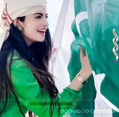 Pakistan Independence, Frock For Women, Muslim Beauty, Girls Dpz, Frocks, Photoshop, Pakistani, Flag, Digital