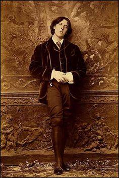 NAPOLEON SARONY. Oscar Wilde Full Length Standing Portrait
