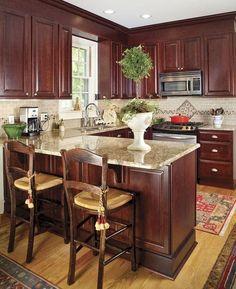 42 Smart Kitchen Island Booth Design Ideas For You Western Kitchen Decor, Home Decor Kitchen, Kitchen Interior, Home Interior Design, Kitchen Design, Kitchen Ideas, Western Decor, Smart Kitchen, New Kitchen