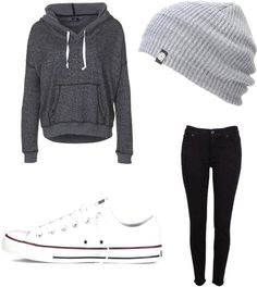 How To Wear Converse Outfits Casual Beanie 58 Ideas Casual Winter Outfits, Cute Lazy Day Outfits, Winter Outfits For Teen Girls, Girls Christmas Outfits, Summer School Outfits, Casual School Outfits, Teenage Outfits, Winter Fashion Casual, Preppy Outfits