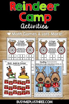 This great set is an amazing way to create some fun around the Christmas Holidays. Celebrate winter by having the students make a craft and do some no prep printables. Use the games in math stations and writing pages for ELA stations. Grab yours today! Math 2, Math Literacy, Math Games, Fun Games, Christmas Activities, Fun Activities, Christmas Holidays, Math Stations, Second Grade