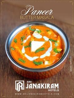 Who doesn't love Paneer Butter Masala?  This silky smooth curry of cubes of indian cheese nestled in creamy tomato is definitely will be ones restaurant favourite.  Have you tried this at Srijanakiram Hotels????   #srijanakiram #panner #butter #masala #tirunelveli