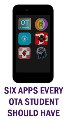 Six Apps Every OTA Student Should Have | OT's with Apps & Technology Pinned by SOS Inc. Resources http://pinterest.com/sostherapy.