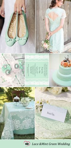 Beautiful Mint Green and Coral Wedding Decorations