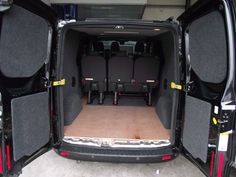 Ply and carpet lining, lighting, seats and windows Van Storage, Bespoke, Baby Car Seats, Carpet, Windows, Lighting, Ideas, Pickup Trucks, Taylormade