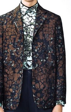 patternprints journal: PRINTS, PATTERNS AND TEXTILE SURFACES FROM LONDON CATWALKS (MENSWEAR F/W 2015/16) / Christopher Kane