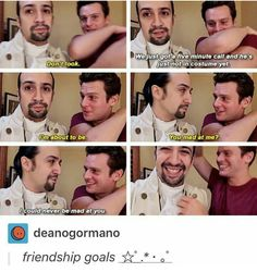 #hamilton #tumblr #linmanuelmiranda #jonathangroff fuck they're cute