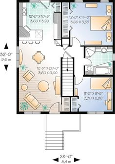 Bungalow Country Traditional Level One of Plan 76183 Tiny house