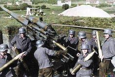 Flak 88 mm Mortifero,Eficaz,Antitanque ,Antiaereo,El Famoso 88mm, Es Accionado Por Su Dotacion y Ser Disparado