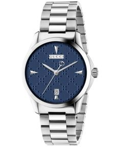 ee33beafc2a Gucci Unisex Swiss G-Timeless Stainless Steel Bracelet Watch 38mm - Silver