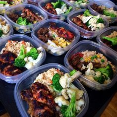 Lunch: BBQ Chicken, steamed broccoli and cauliflower and vegetable brown rice. Dinner: sauteed beef, brown rice with corn & green peas and roasted green and yellow zucchini