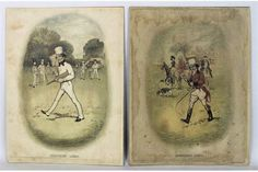 Pair of Edwardian Coloured Lithographs, featuring Johnnie Walker, by Tom Browne  | eBay