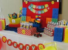 decoração de festa batman lego