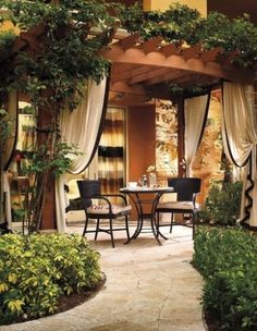 Outdoor Pergola Terrace - Patio Pergola Designs - - Corner Pergola With Hammock - - Pergola Terrasse Design Outdoor Areas, Outdoor Rooms, Outdoor Living, Outdoor Decor, Terrasse Design, Patio Design, Pergola Designs, Backyard Patio, Backyard Landscaping