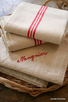 French Linen Towels
